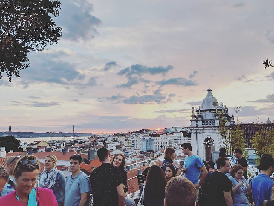 A weekend in Lisbon.  Wonderful sunset views from Park Bar, Lisbon