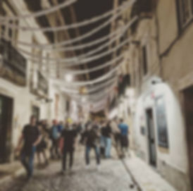 A Weekend in Lisbon.  Bairro Alta comes alive at night