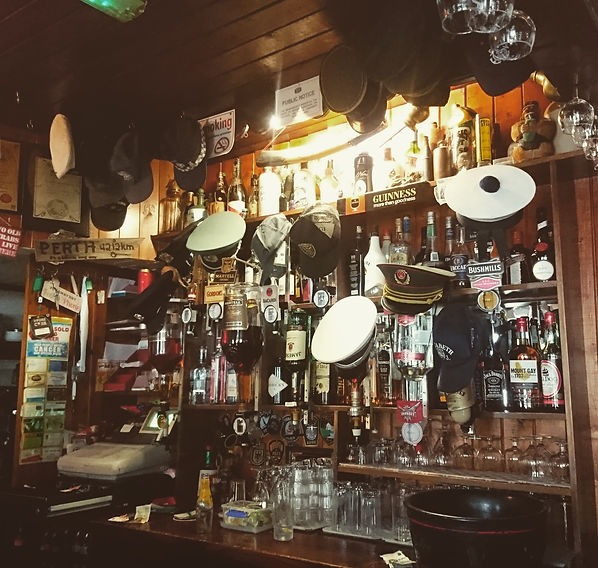 The Blue Loo, Glengarrif.  As with many local pubs the bar is adorned with random trophies!  A weekend in West Cork.