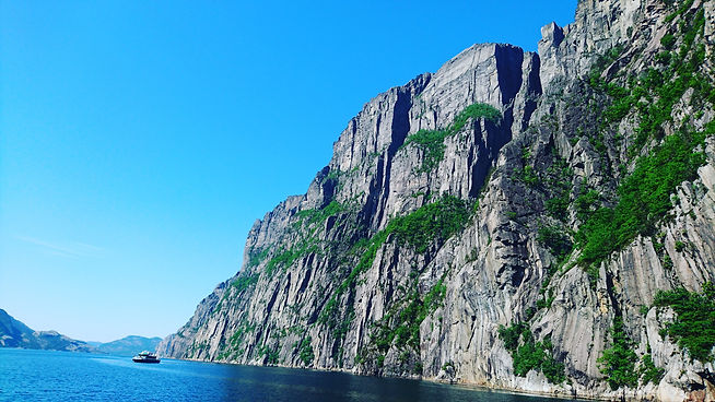 The view of Pulpit Rock is great from below as well as above  | A Weekend in Stavanger