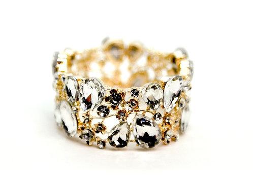 Gold and Floral Diamond Bracelet