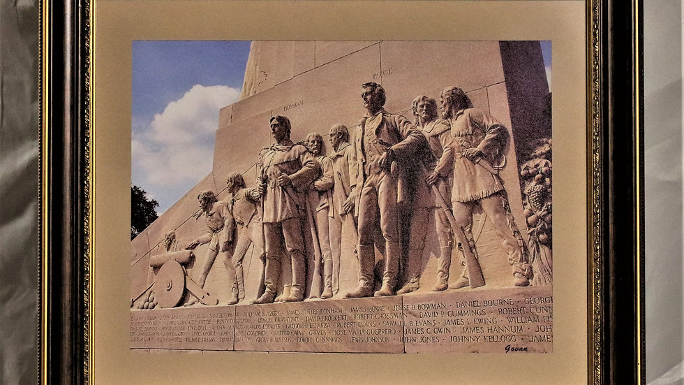 Photography - Bonham & Bowie on the Cenotaph at The Alamo