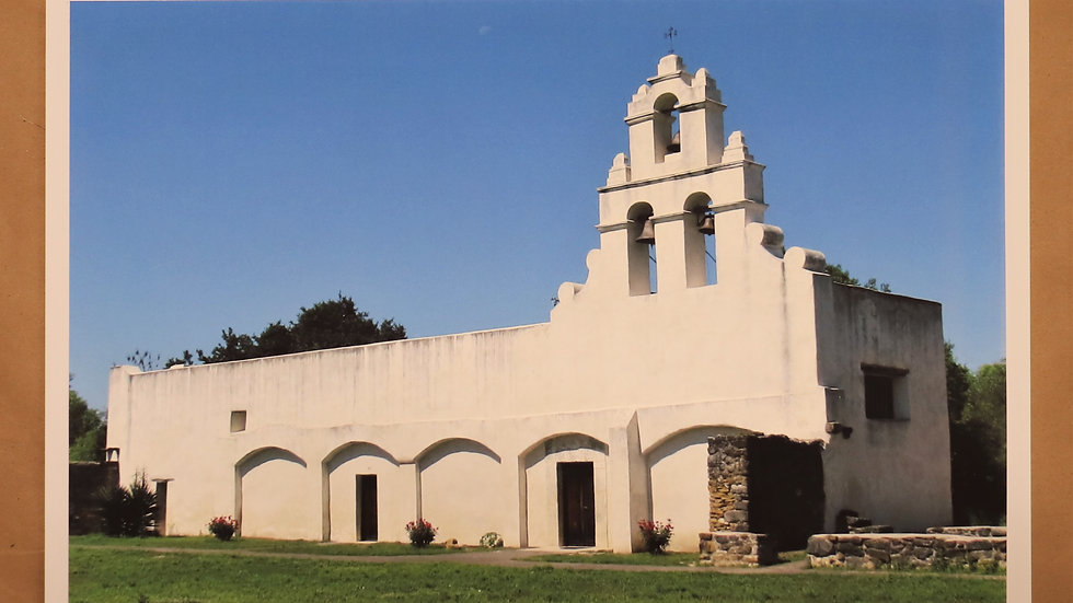 "Photography - Mission San Juan - San Antonio Tx - ""Print"" on canvas"