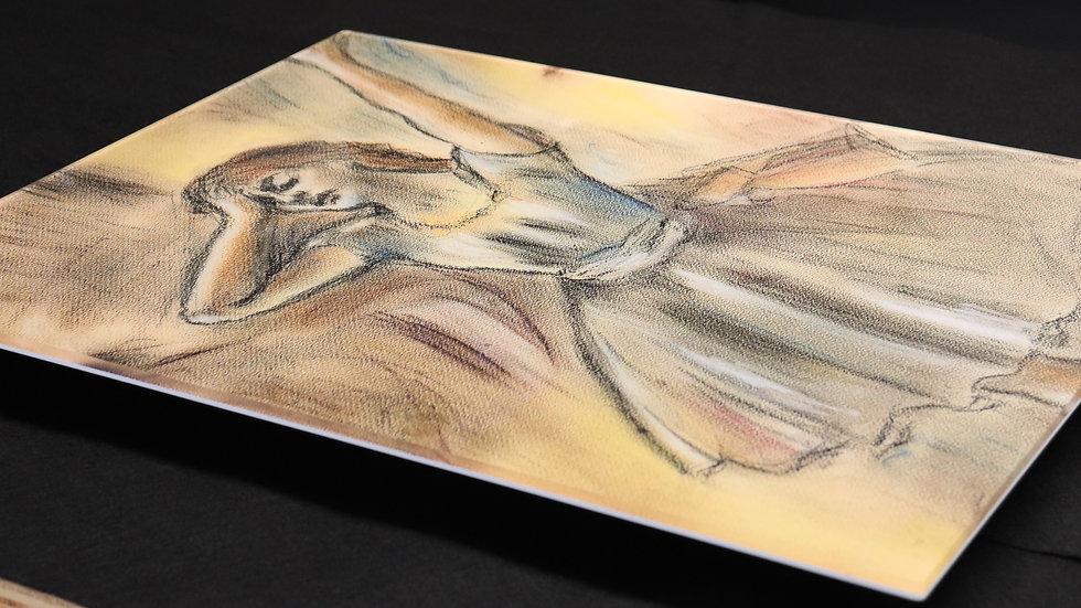 "Dancer Stretching - Edgar Degas - Pastel Reproduction ""Acrylic Print"