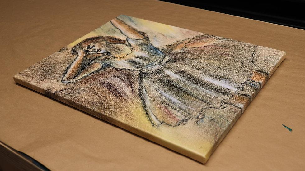 "Dancer Stretching - Edgar Degas - Pastel Reproduction ""Print"""