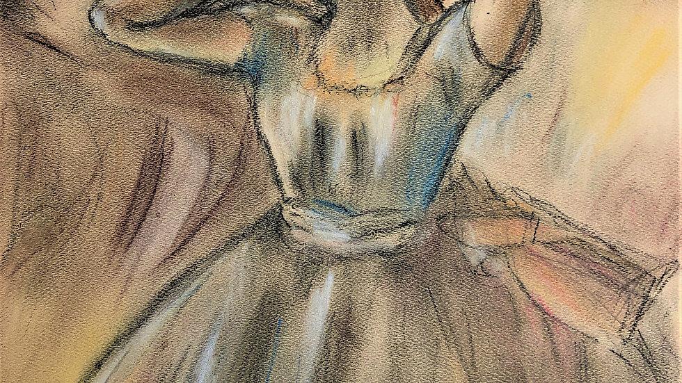 "Dancer Stretching - Edgar Degas - Pastel Reproduction ""Print"" on paper matte"