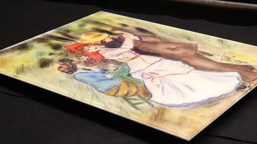 "Dance at Bougival - Renoir Reproduction in Pastel ""Acrylic Print"""