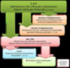 Organigramme formation CAP Maintenance des Véhicules automobiles