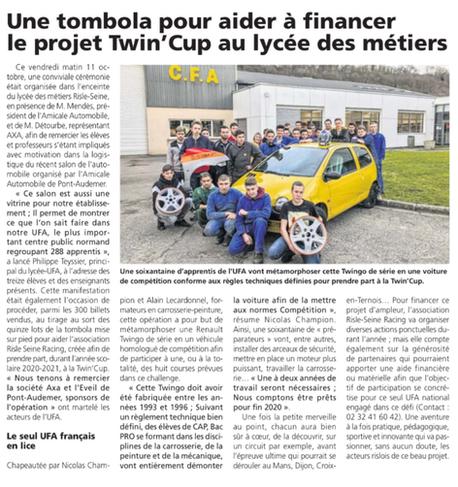 Le projet Twin'Cup avance ...