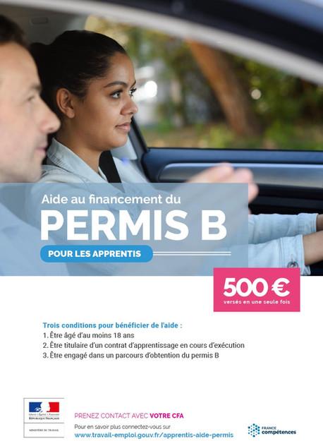 Aide au financement du permis de conduire B