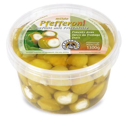 Milde Pfefferoni gefüllt mit Frischkäse 1300g