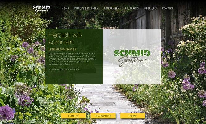Frontseite Homepage Schmid Garten