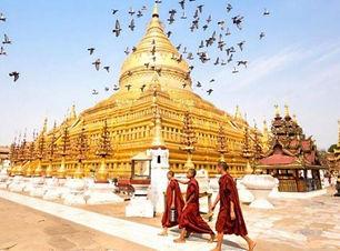myanmar_bagan_novice_buddhist_monks_walk