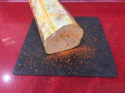 """Foie gras de canard entier mi-cuit au piment d'Espelette """" Le petit Basque"""" 300g"""