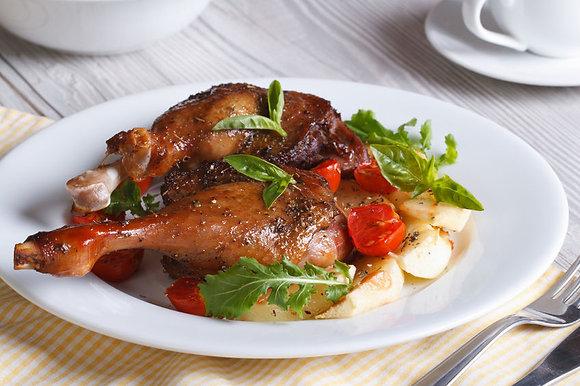 Manchons de canard confits sous vide par 5