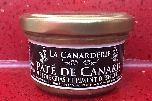 Pâté de foie gras et piment d'Espelette bocal 80 g