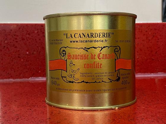 Saucisse de canard confite boite 640g
