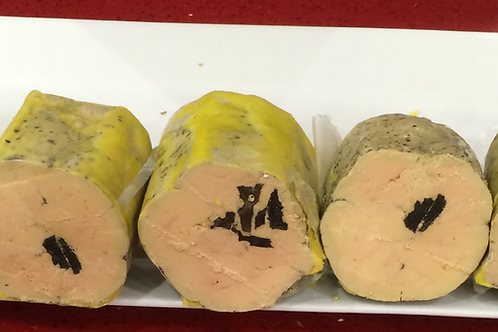 """Foie gras de canard entier mi-cuit aux truffes fraiches """"L'Or noir""""  200g"""