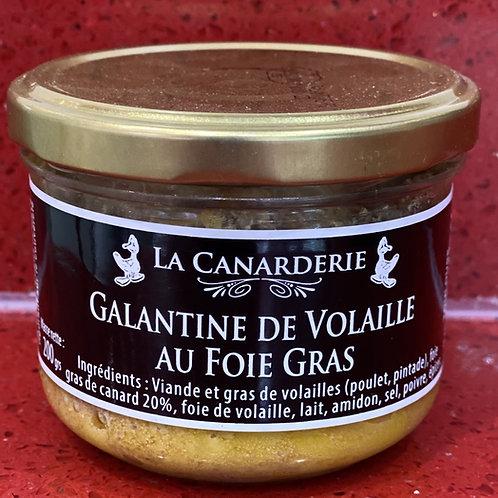 Galantine de volaille au foie gras bocal 200 g