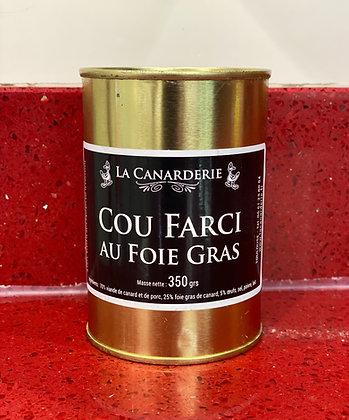 Cou de canard farci au foie gras 350g