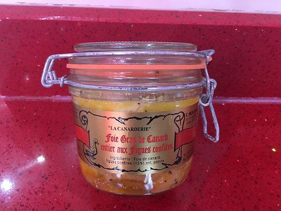 foie gras de canard entier aux figues confites 350 g