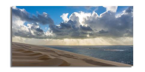 Sculptures du vent sur la dune du pilat.