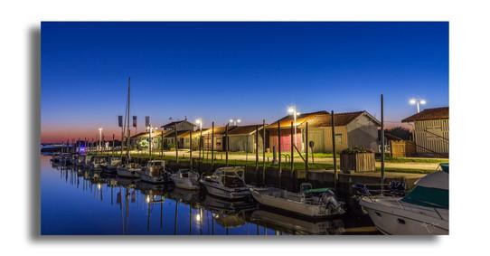 Soirée paisible au port d'Audenge.