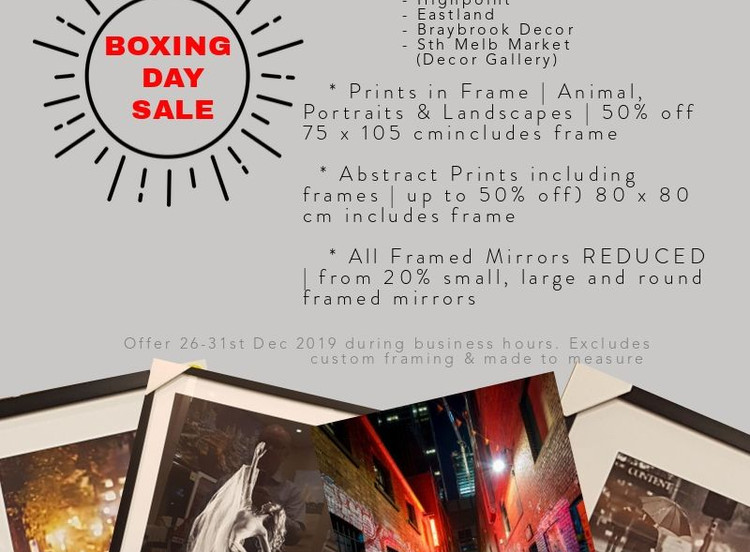 Up to 50% off   Boxing Day Sale   Picture a Print