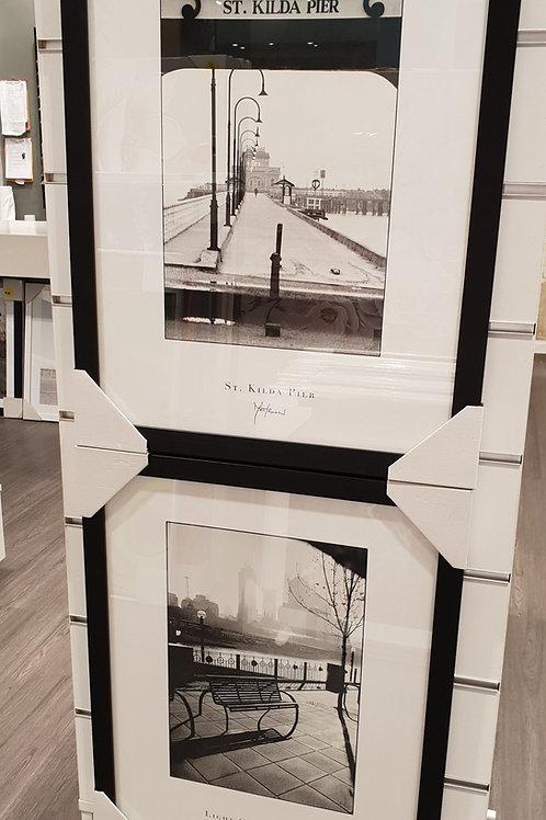 Black & White Matirwin Melbourne Prints | Black frames