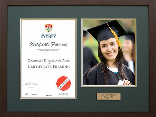 Custom Framed Graduation Diploma & Certificates