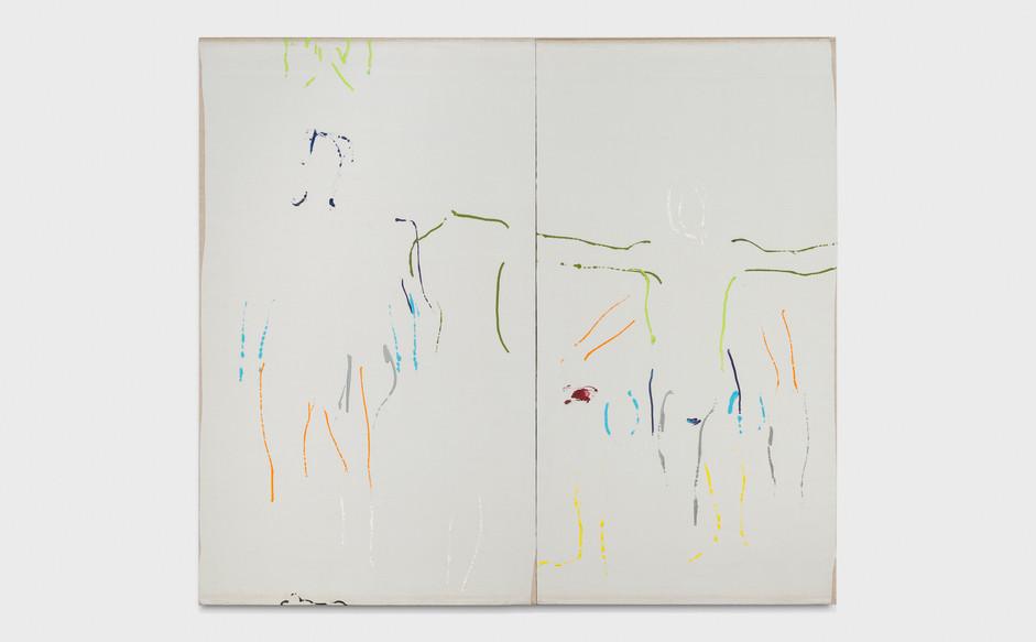 Corrado Levi, Serie Autunno, 1982, acrylics on canvas, cm 210x250
