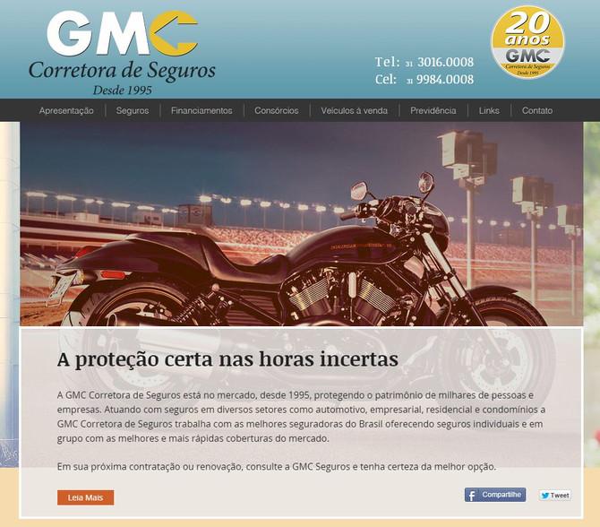 GMC Corretora de Seguros - Novo site oferecendo mais credibilidade aos clientes.