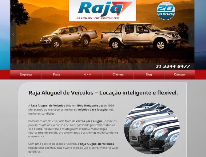 Raja Aluguel de Veículos. Site novo no ar.
