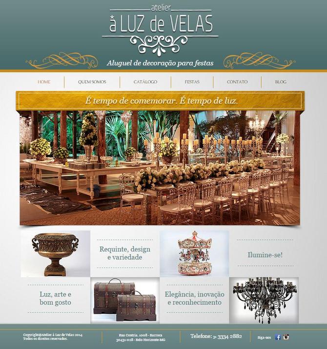 Mais um lançamento da nossa consultoria, o novo site do Atelier à Luz de Velas