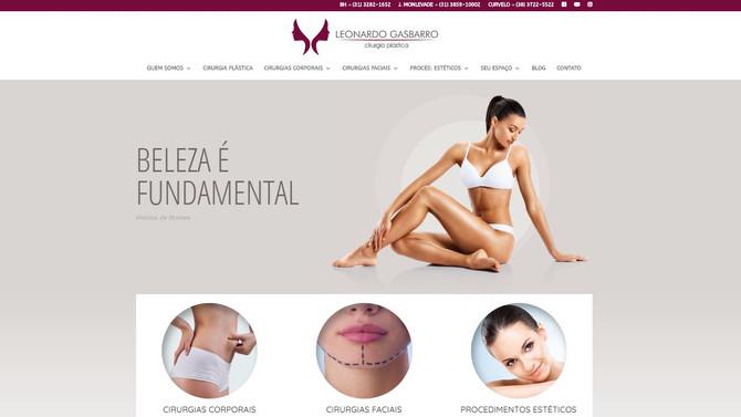 Site novo no ar. Dr. Leonardo Gasbarro Cirurgia Plástica