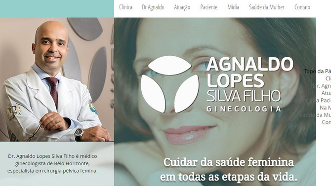 Conheça em primeira mão o site Agnaldo Lopes Ginecologia.
