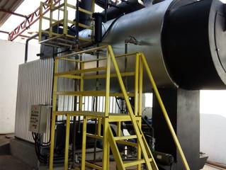 Caldeira à vapor para alambiques e outras agroindústrias