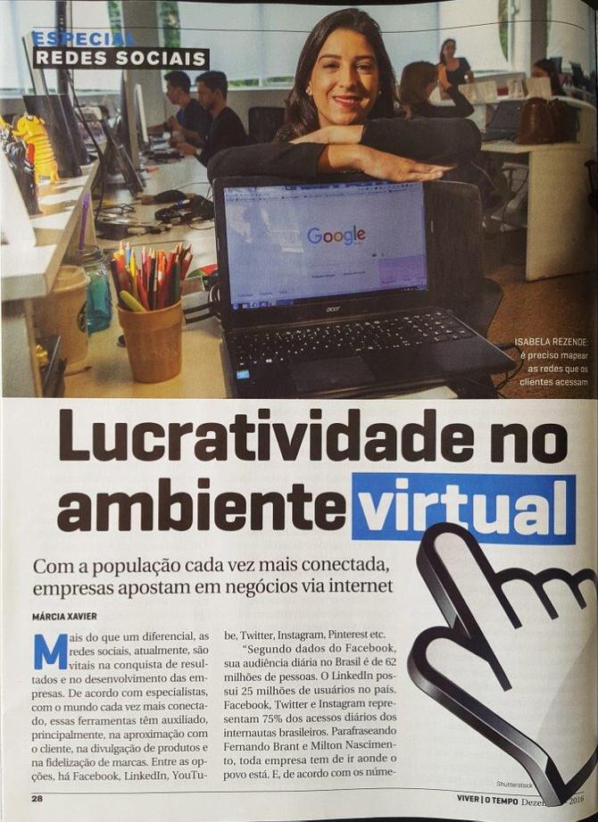 Revista Viver Brasil publica matéria sobre redes sociais nas empresas com a nossa colaboração.