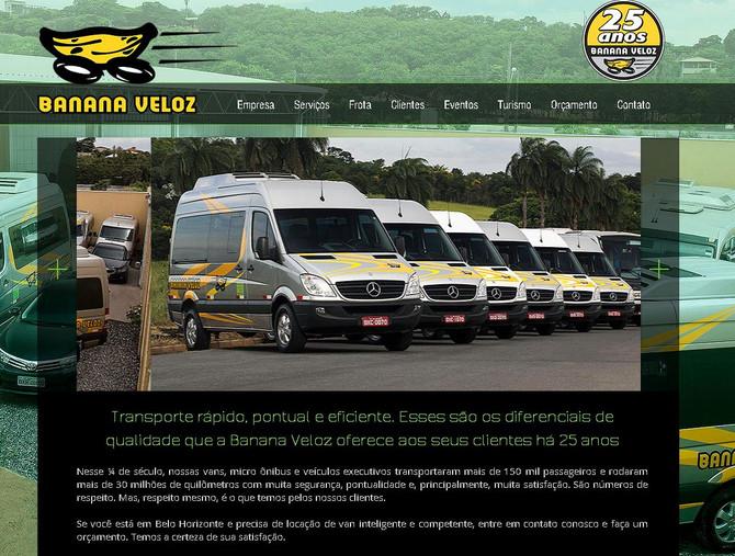Banana Veloz - Mais um site publicado