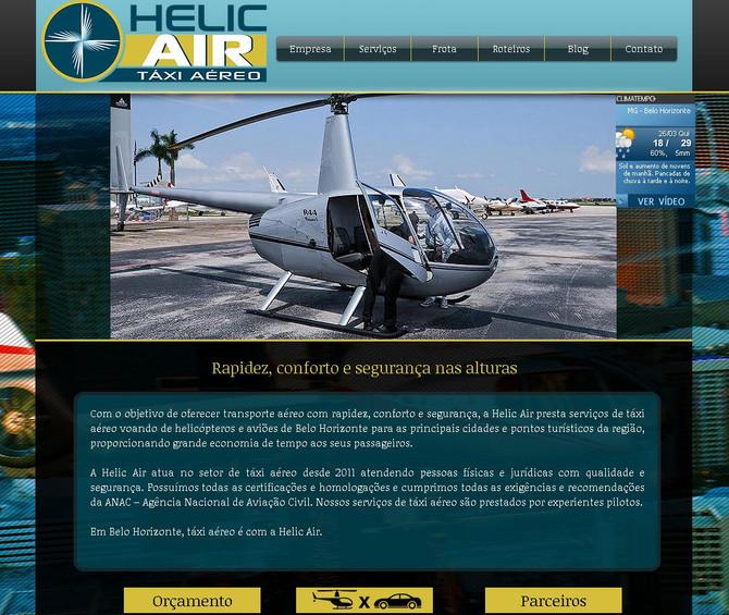 Helic Air Táxi Aéreo. Mais um site desenvolvido e otimizado. Em breve nos primeiros lugares do Googl