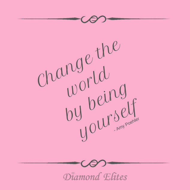 Change The World By Being Yourself