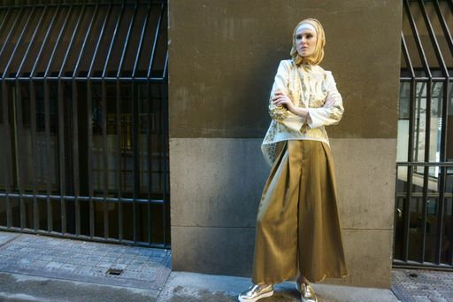 Golden Flare Pants