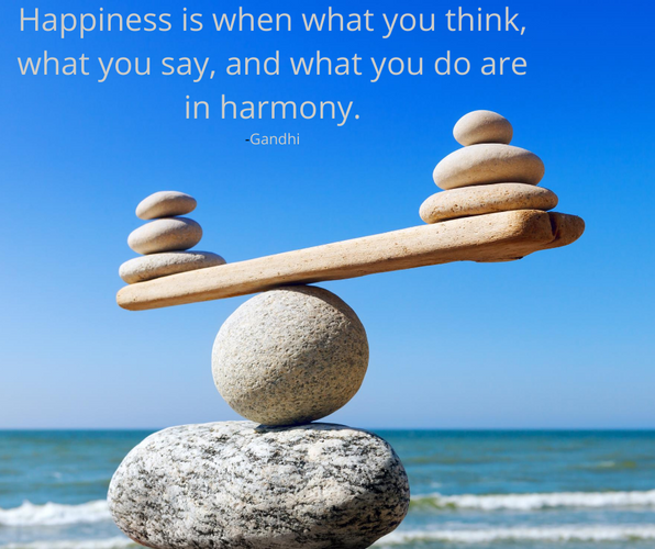 Happiness is when what you think, what y