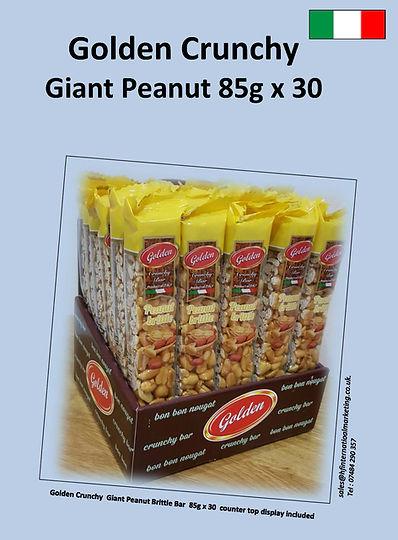 GoldenCrunchy Giant Penaut Brittle 85g X