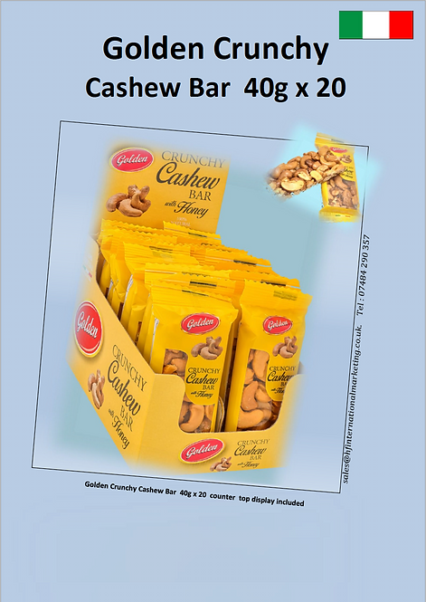 Cashew Bars 40g x 20