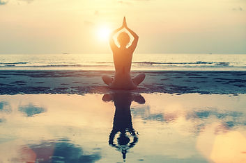 Meditation, yoga and fitness, a healthy