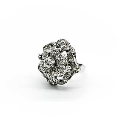 18ct White Gold and Diamond Cocktail Ring (Sold)