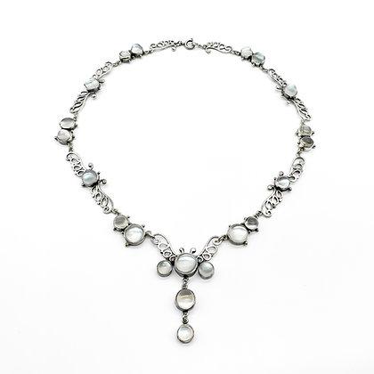 Edwardian Silver Moonstone Necklace