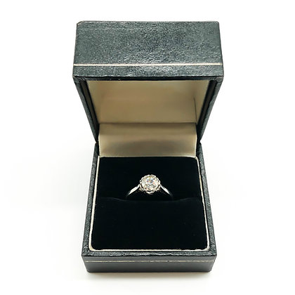 Platinum Ring with Old European Cut Diamond (Sold)