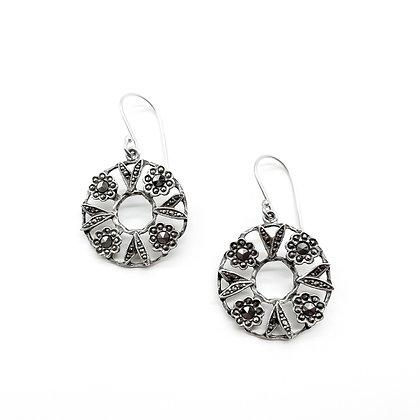 Silver Marcasite Earrings